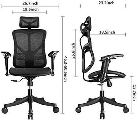Argomax Mesh Ergonomic Chair - ergonomic office chair with neck support