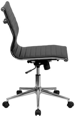 Flash Furniture Mid-Back Armless - study chair with writing pad amazon
