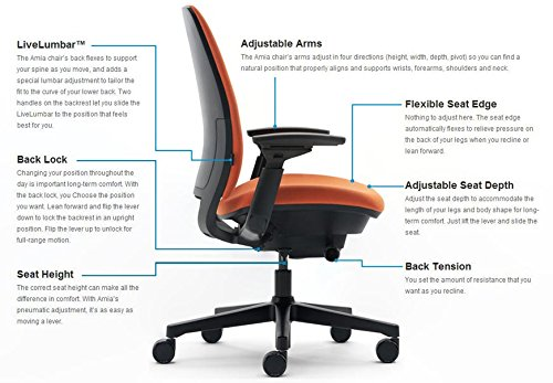 Review Steelcase Amia vs leap