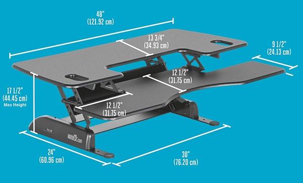 Varidesk Pro-Plus 48 - Varidesk Pro-Plus 48 standing desk
