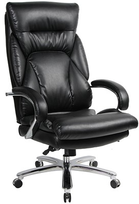 VIVA OFFICE 350lbs Capacity PU Leather Office Chair - best office chair for bad back