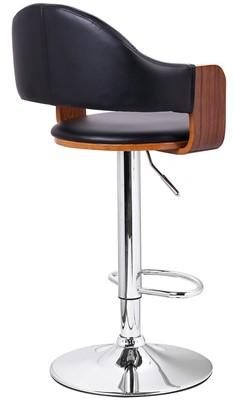 Adeco Swivel Hydraulic bar Stool - bar stool with back support