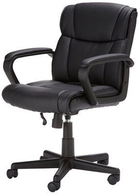 Amazon Basics Mid-Back Chair - office chair for short