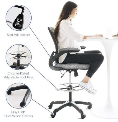 Modway Veer -Best Drafting Chair for Standing Desk