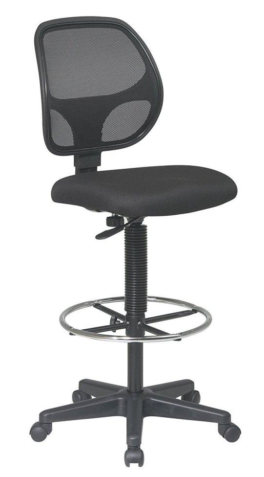 Office Star Deluxe Mesh Back best Drafting Chair for Standing Desk