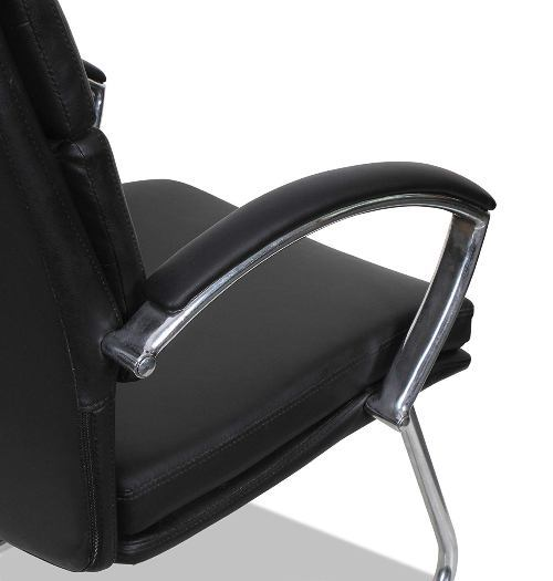 Alera Madaris Leather Guest Chair-Best Visitor Chair Reviews for Office Amazon