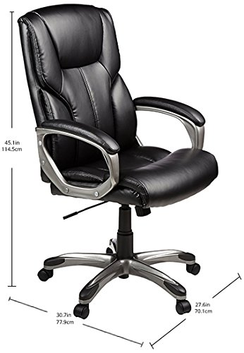 AmazonBasics High Back Executive Chair- Best Office Chairs Reviews for Tall People