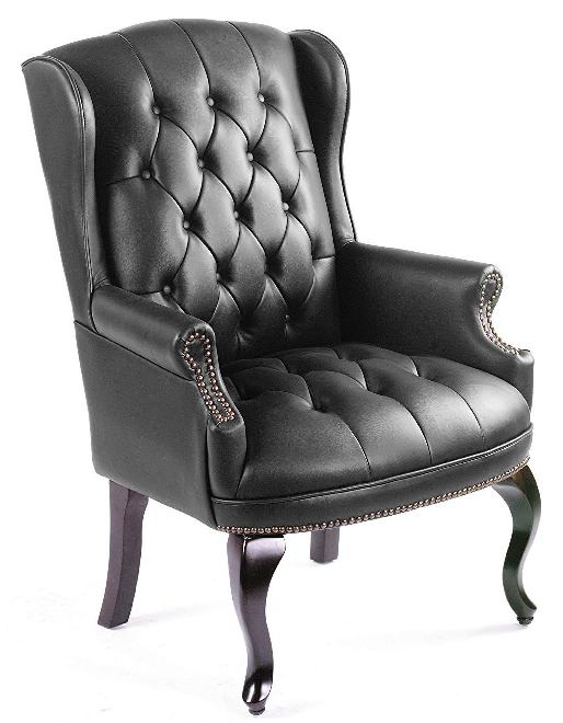 Boss Office Products B809-BK Wingback Traditional -Best Visitor Chair Reviews