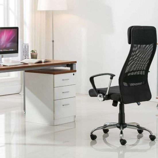 United UOC-8045-BK High Back Chair- Top Best Office Chairs Reviews for Tall People