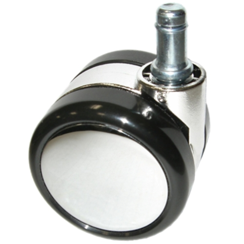 Large Chrome Chair Caster Wheels With Soft Treads For