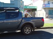 Byron Bay - Australia. Pratically every ute that drove passed in Oz had a dog happily chilling in the back. It takes me to the funniest moments of farm work as well as going to work.