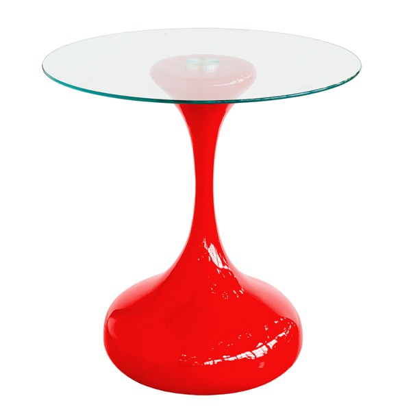 Red and Black Glass Coffee Tables