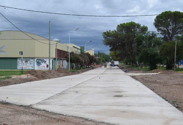 Pavimento de Av 9 de julio Chajarí