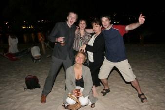 S kolegy z Nedělníku Aha! na párty VyVolených, cca 2005