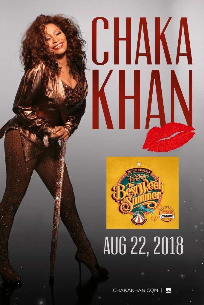 Chaka Khan Promo Image - Benton Franklin Fair 2018