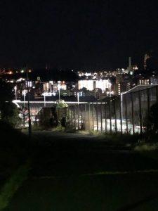 清水ヶ丘公園から見下ろした夜景
