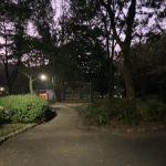 久良岐公園入口はまだ暗い