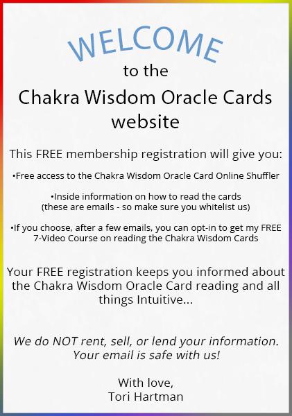 Chakra Wisdom Oracle Cards - Chakra Wisdom Oracle