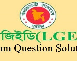 LGED Exam Question Solution