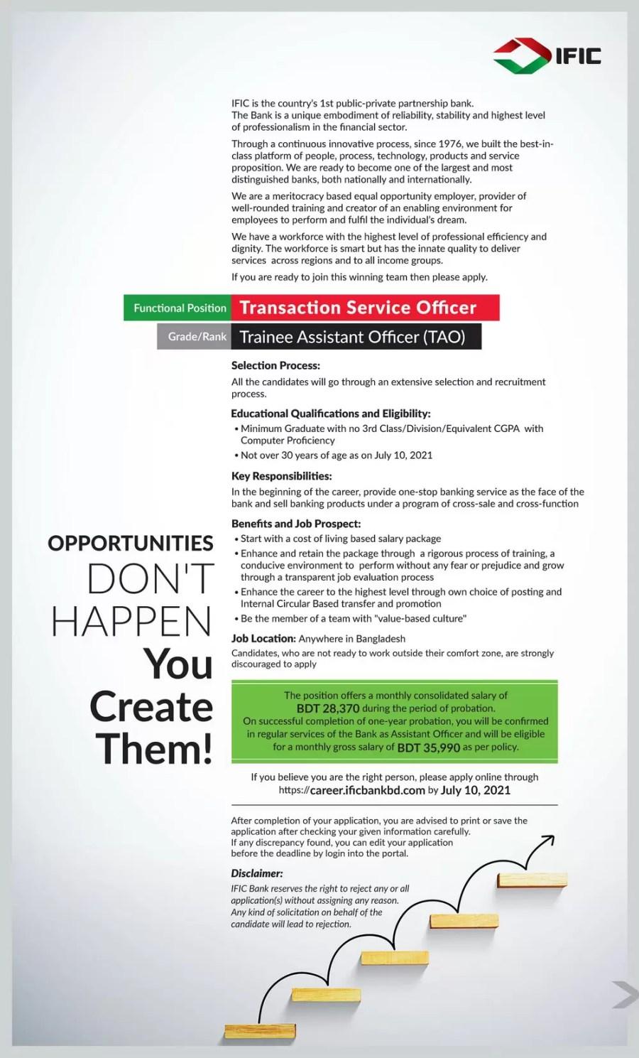 IFIC Bank Job Circular 2021