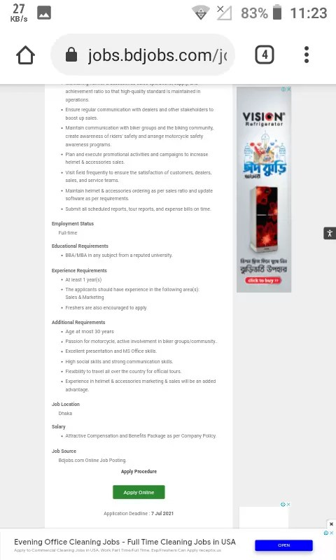 ACI Motors Limited Job Circular Apply 2021