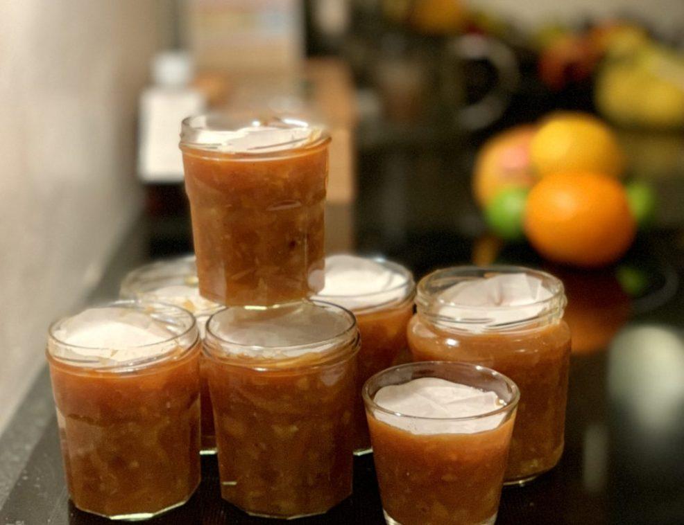jars of homemade organic marmalade