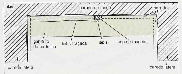 ilustração de instalação de prateleiras no passo 4a