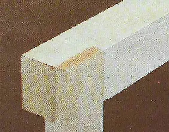 foto ilustrativa de uma junta em meia-madeira com espessuras diferentes