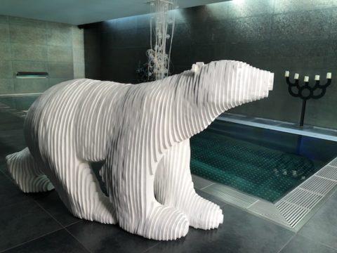 Michel Audiard sculpteur chalet ours blanc