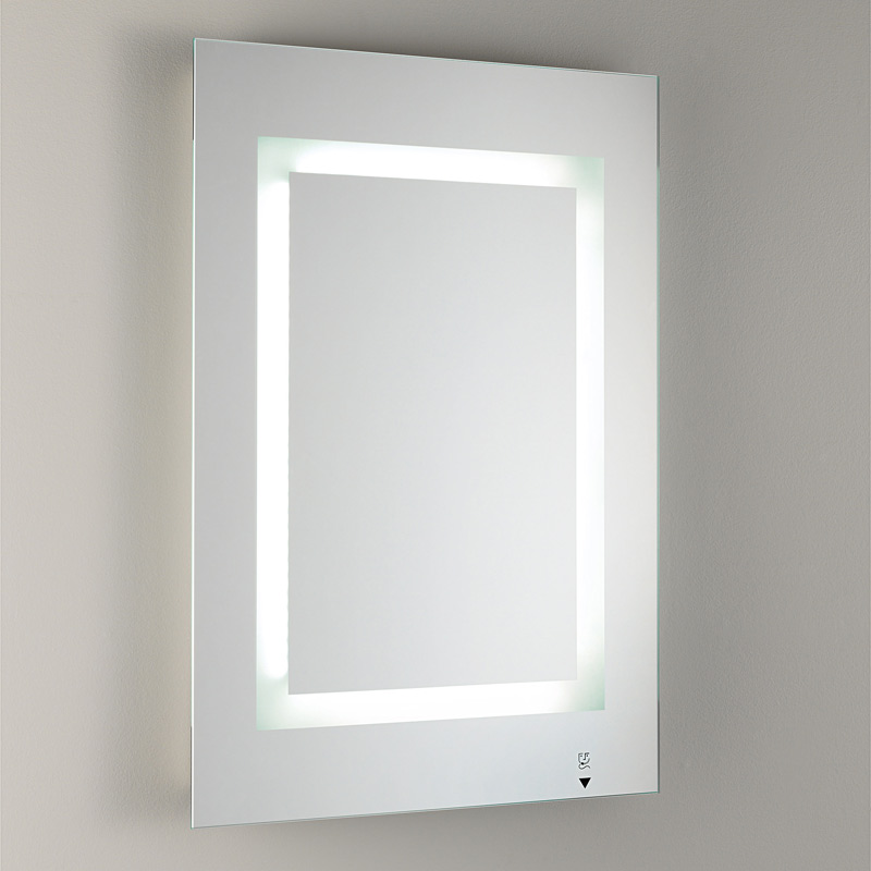 Bathroom Illuminated Mirror with Frosted Glass  Furnish