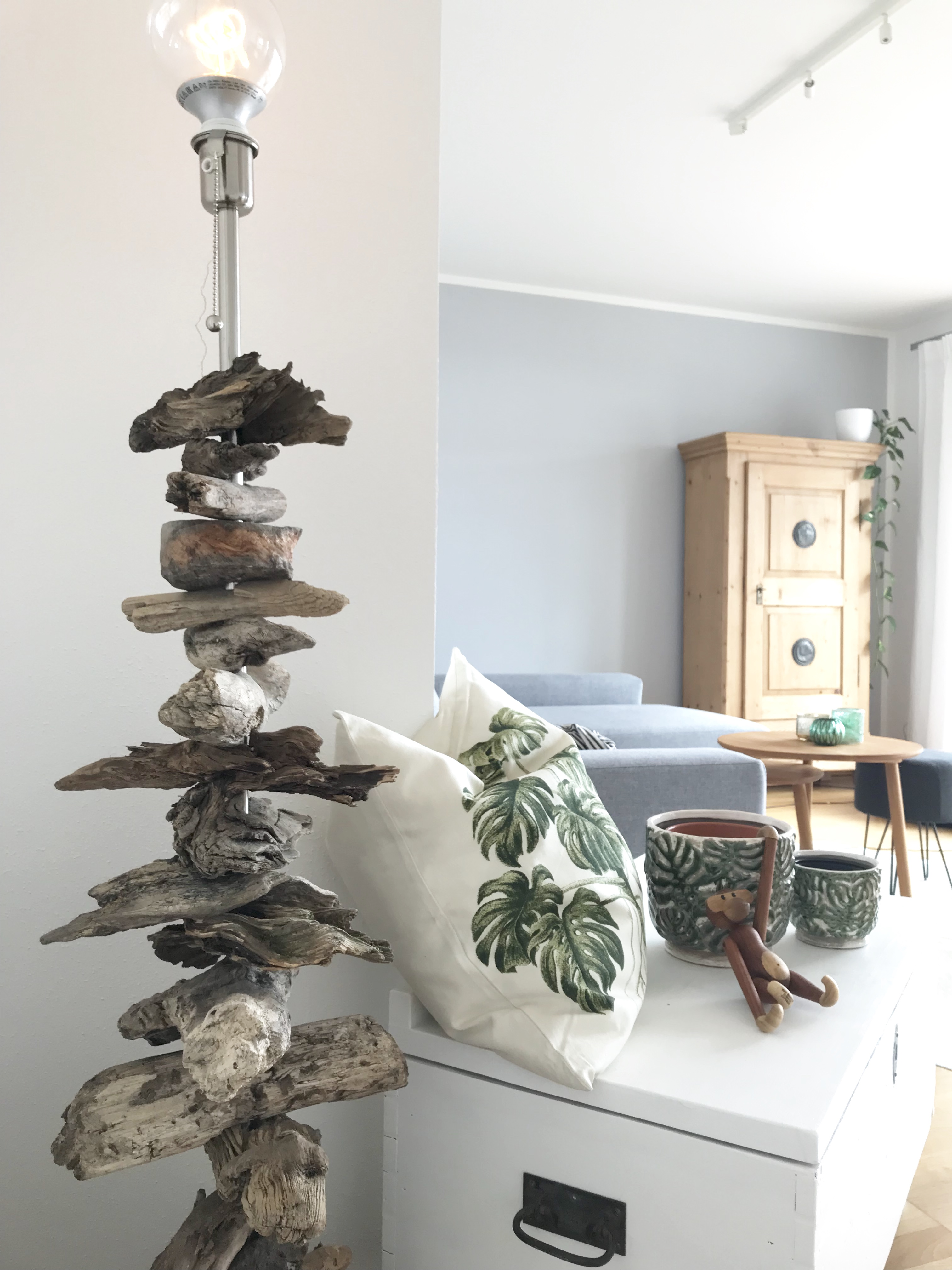Upcycling: Treibholz-Stehlampe - Chalet8