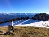 Vue de Chaine des Alpes par l'Alpette