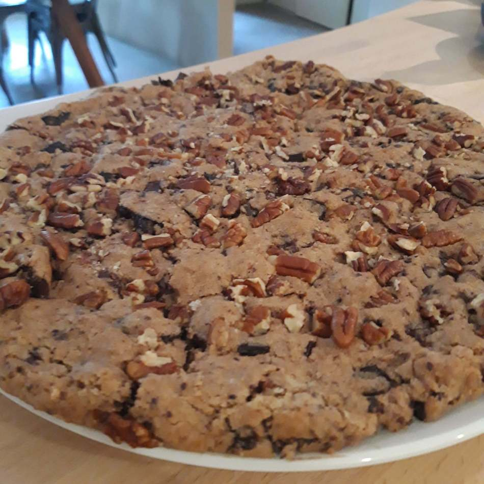 chalet Skidh . Cookie géant aux pépites de chocolat