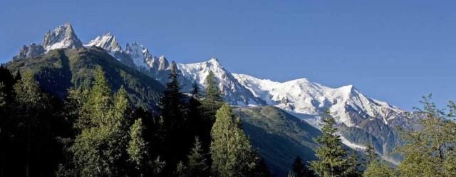 Vue sur la chaine du Mont-Blanc
