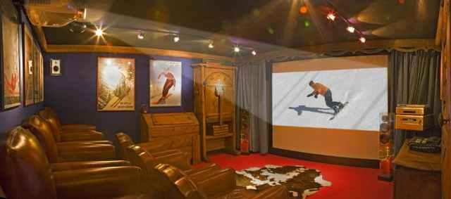 Hotel Chamonix - Salle privée de cinéma
