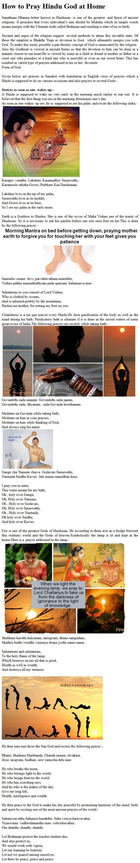 How to Pray Hindu God at Home