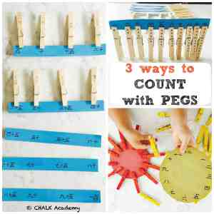 Number Matching With Pegs - 3 Easy Ways