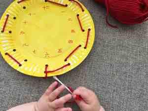 Clock Face Threading Activity