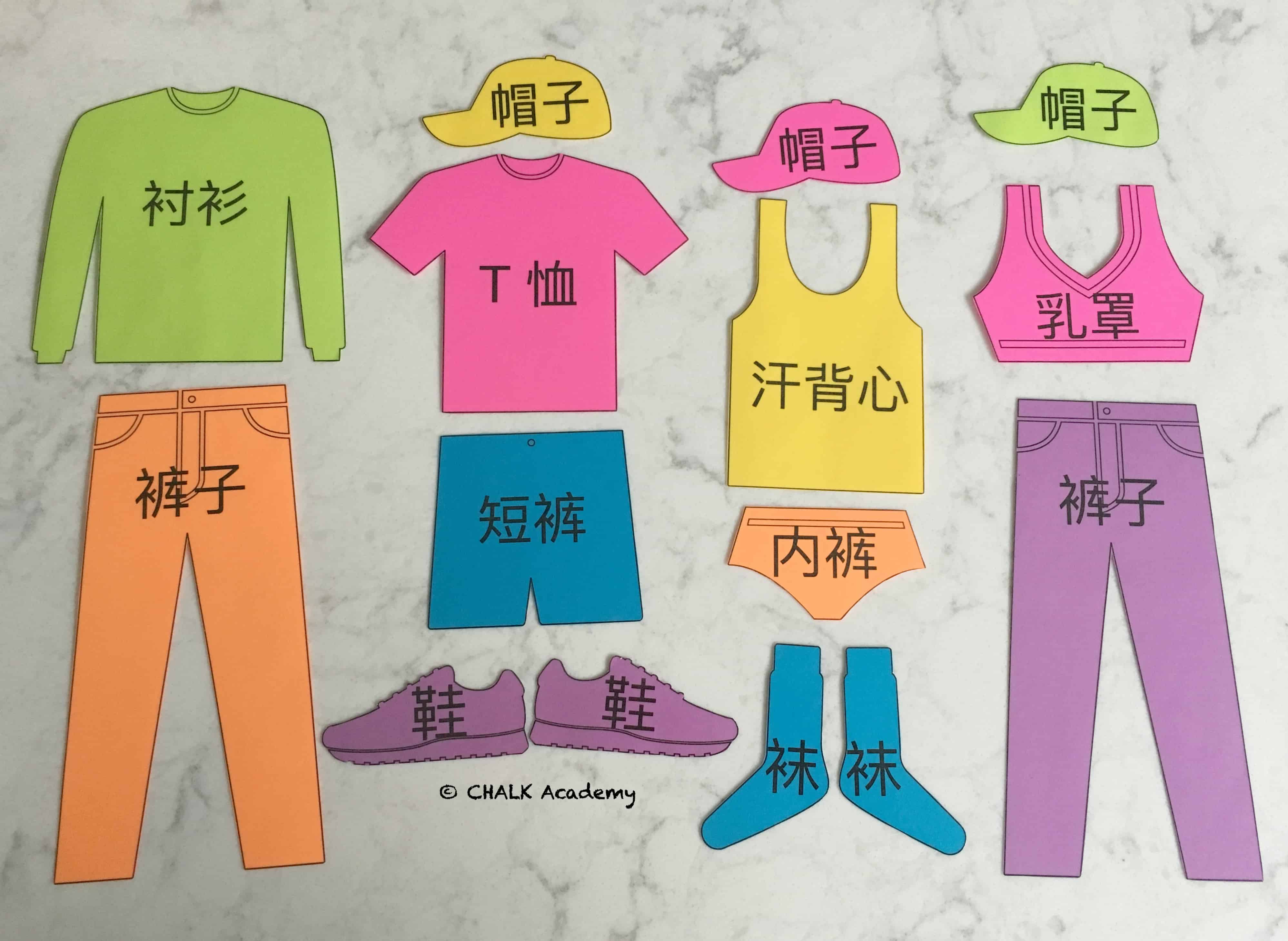 Multilingual Clothing Flashcards For Pretend Play Amp More