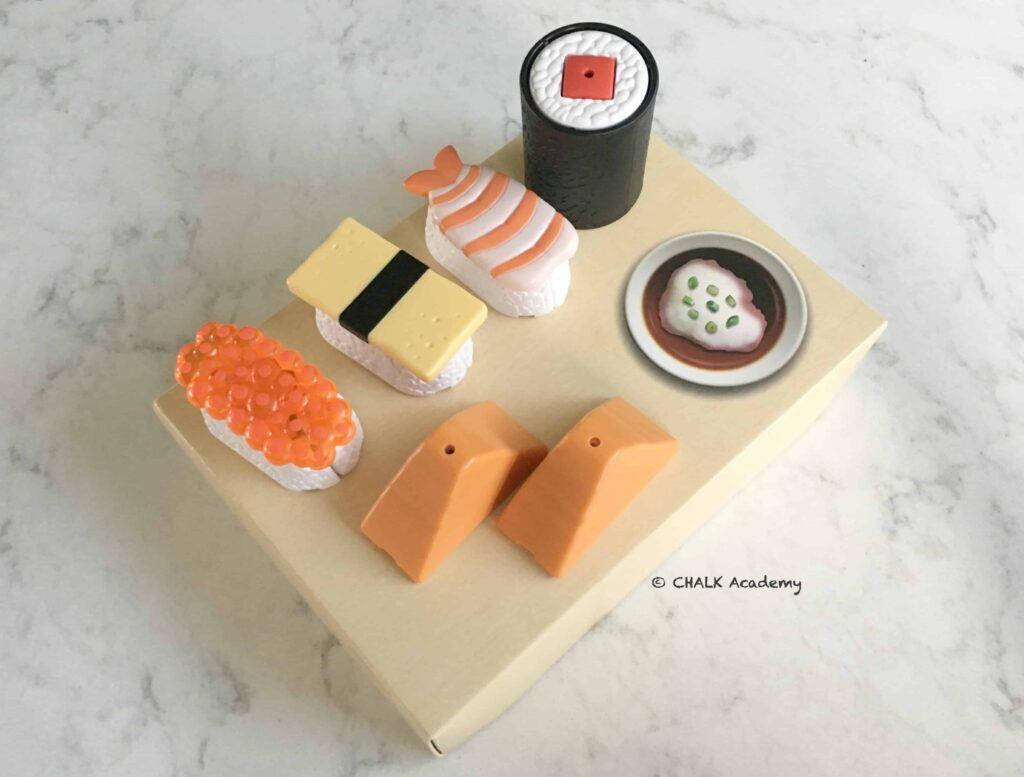 巧虎 (Qiao Hu) sushi toys