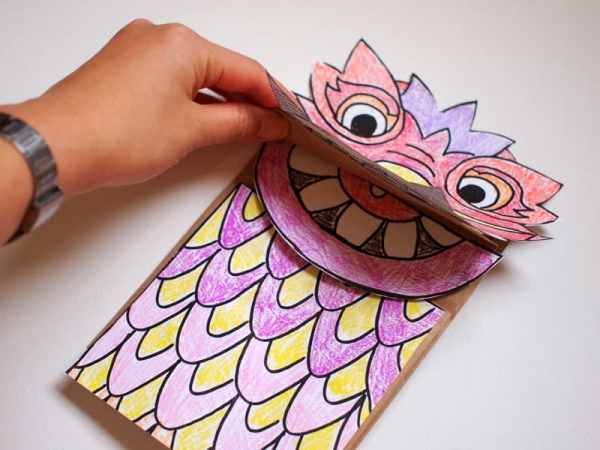 15 fun and educational chinese new year activities for for Cardboard dragon template
