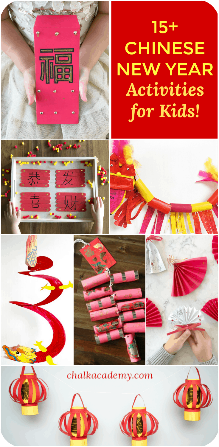 Amazing, fun, and educational Chinese New Year Activities for kids | Kids crafts | Chinese culture | Preschool | Elementary school | Homeschool | Mandarin Immersion | Learn Chinese | Chinese Red Envelope | Dragon Craft | Craft stick | Paper Plate activity | Chinese Fan, lantern, firecracker