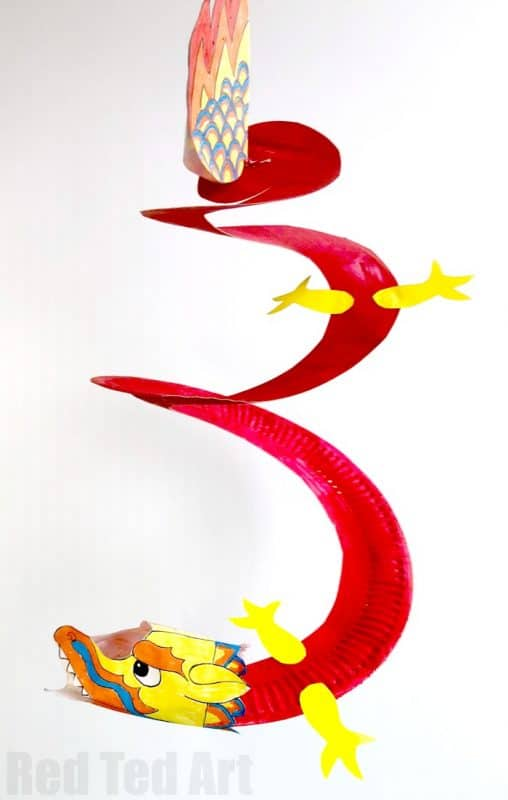 Paper-Plate-Whirling-Dragon from Red Ted Art