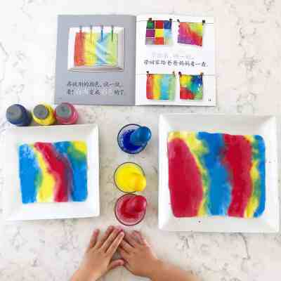 Cloth Painting with Pipettes: A Fine Motor & Science Activity for Kids!