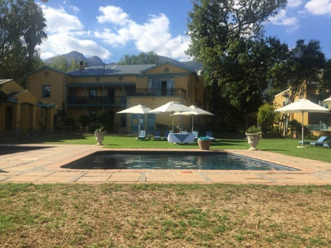 Franschhoek Country house pool