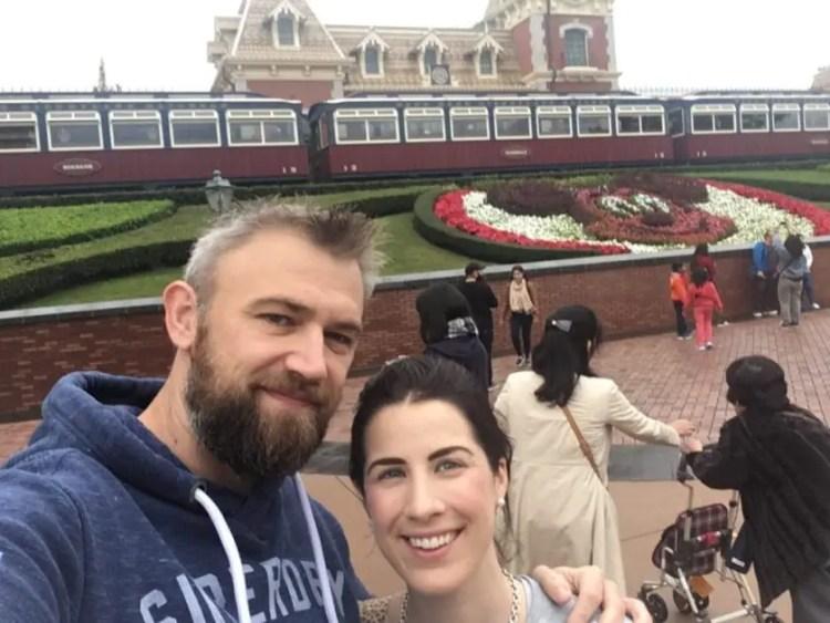 Us at Disneyland Hong kong