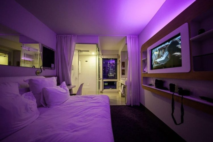 rooms at the yotel New york