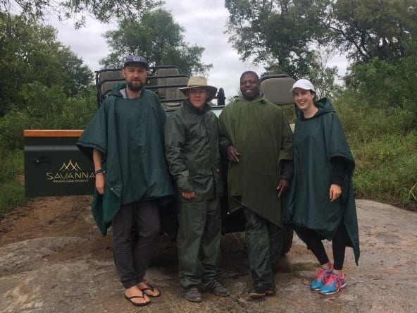 Us with our team from Savanna Private Game reserve