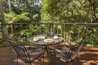 the balcony at pethers rainforest retreat