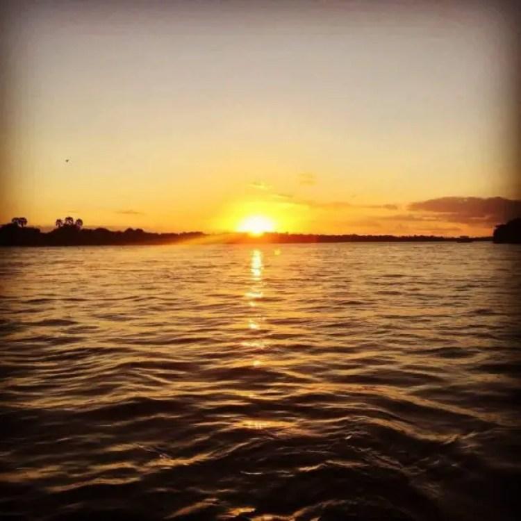 Zambezi river sunset